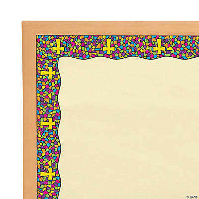 Stained Glass Cross Bulletin Board Borders