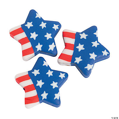 Star Flag Polymer Beads - 20mm