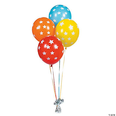 "Star Print 11"" Latex Balloons"