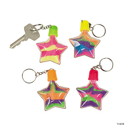 Star Sand Art Bottle Keychains