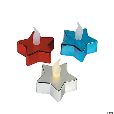 Star-Shaped Metallic Battery-Operated Tea Lights