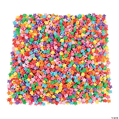 Star-Shaped Pony Beads - 10mm