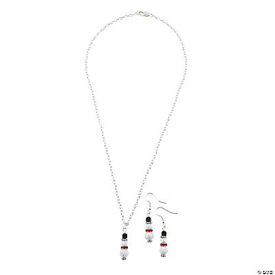 Stardust Snowman Earring & Necklace Kit