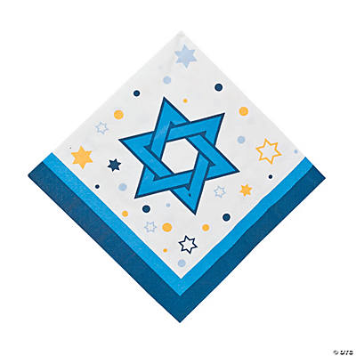 Stars Of Hanukkah Luncheon Napkins