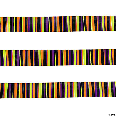 Striped Halloween Streamers