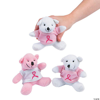 Stuffed Bears with a Pink Ribbon T-Shirt