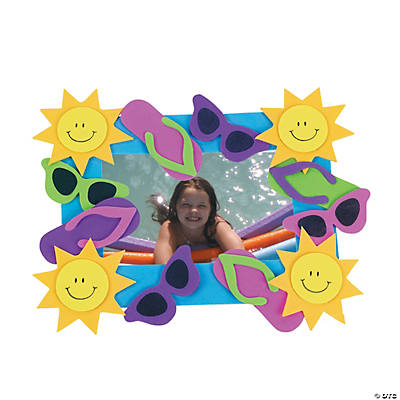 Summer Fun Picture Frame Magnet Craft Kit