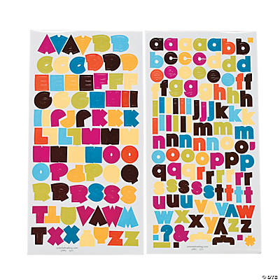 Summer Splendor Alphabet Stickers