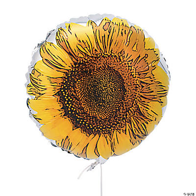 Sunflower Mylar Balloons
