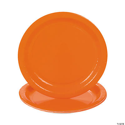 Sunkissed Orange Dessert Plates
