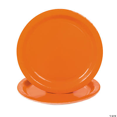 Sunkissed Orange Dinner Plates