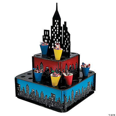 Superhero City Tray with Cones