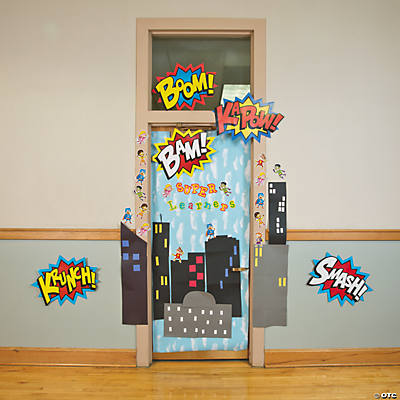 Superhero door decoration idea