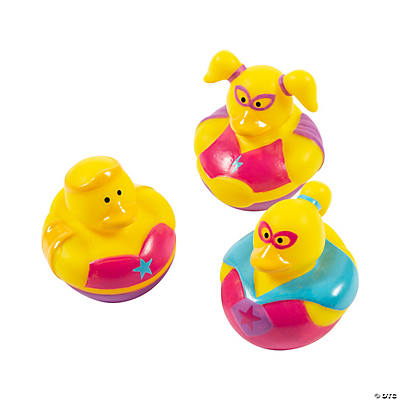 Superhero Girl Rubber Duckies