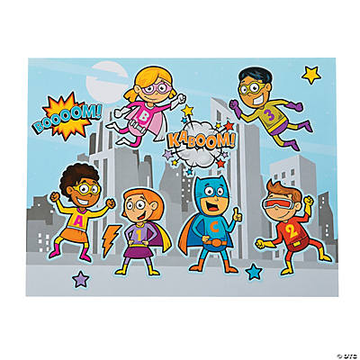 Superhero Sticker Scenes