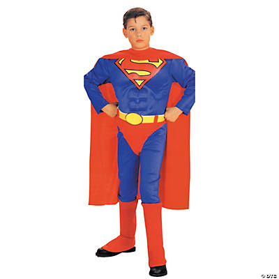 Superman Costume With Muscle Chest for Boys