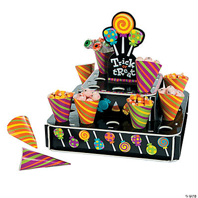 Sweet Halloween Treat Stand with Cones