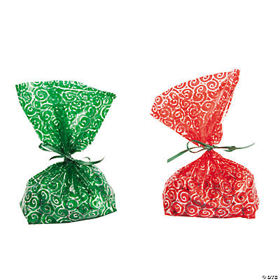 Sweet Treats Christmas Cellophane Bags
