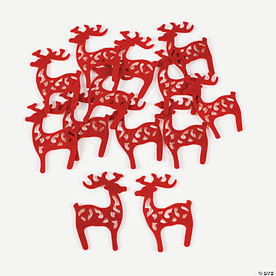 Swirl Reindeer Cutout Shapes