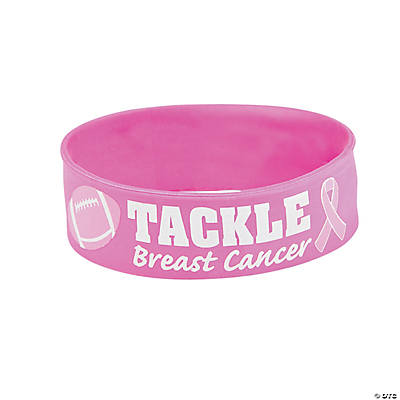 Tackle Breast Cancer Big Band Rubber Bracelets