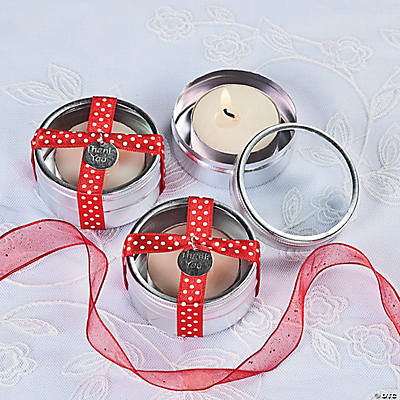Tea Light Candle Favor Tins Idea