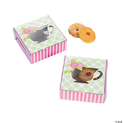 12 Tea Party Cookie Boxes