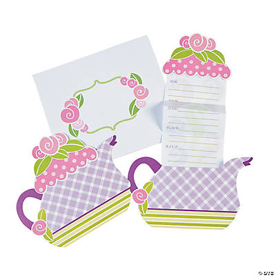 Tea Party Invitations Oriental Trading Discontinued – Tea Birthday Party Invitations