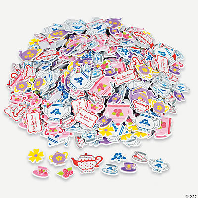 500 Tea Party Self-Adhesive Shapes
