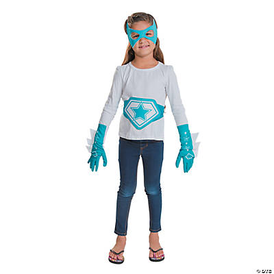 Teal & White Superhero Accessories