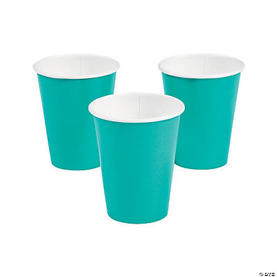 Teal Lagoon Paper Cups