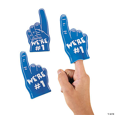 Team Spirit Blue Mini Foam Fingers