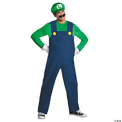 Teen Boy's Deluxe Luigi Costume - Medium