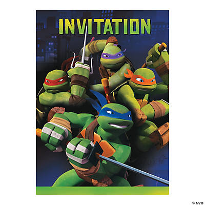 mutant ninja turtles party invitations,