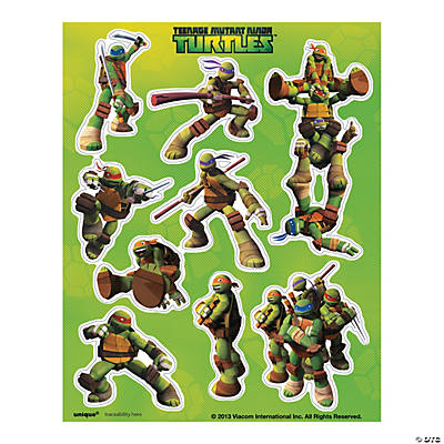 Teenage Mutant Ninja Turtles Sticker Sheets Oriental