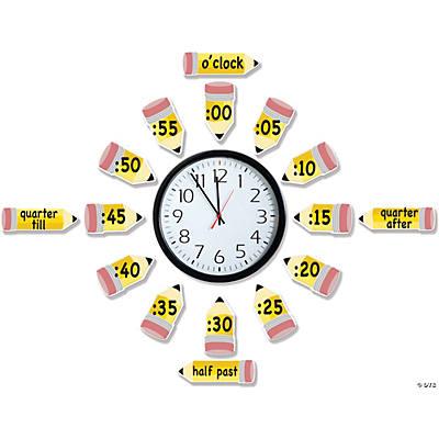 Telling Time Bulletin Board Set Oriental Trading