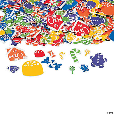 Tempting Holiday Candy Self-Adhesive Shapes