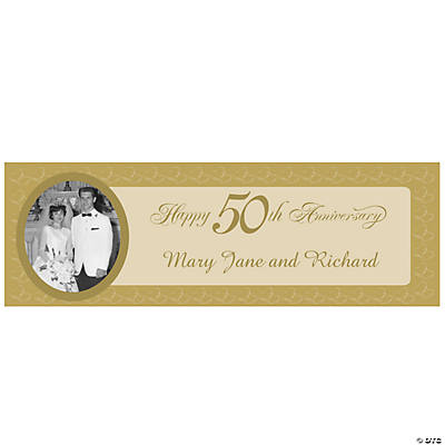 50th Anniversary Small Custom Photo Banner