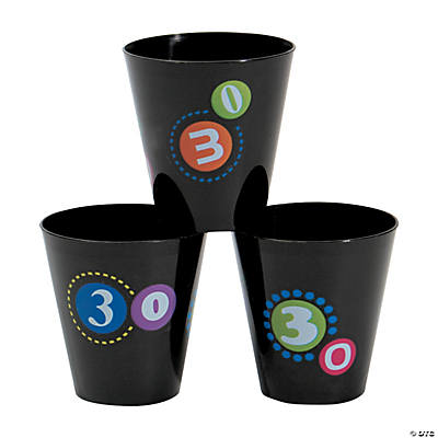 """30th"" Birthday Shot Glasses"