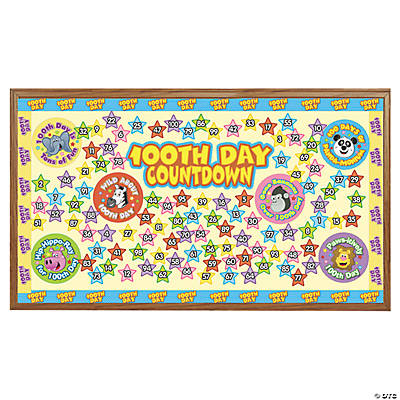 100th Day of School Countdown Bulletin Board Set