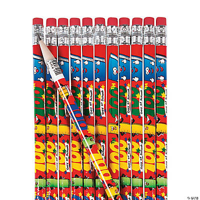 100th Day of School Pencils