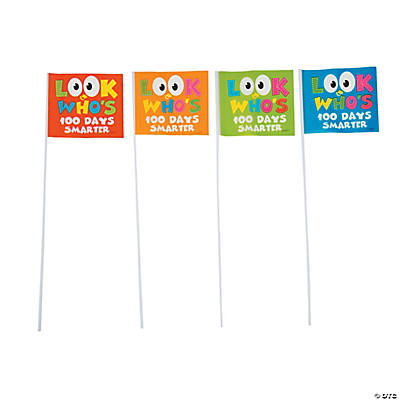 100th Day of School Smarter Flags