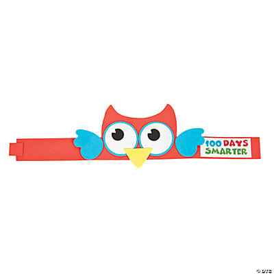 100th Day of School Smarter Owl Headband Craft Kit