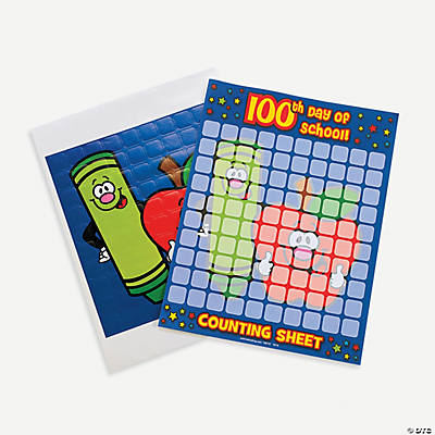 12 100th Day of School Sticker Counting Sheets