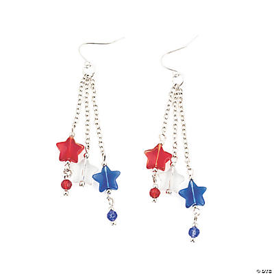 4th Of July Star Earrings Idea