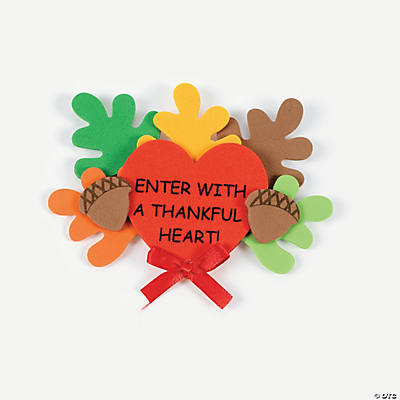 Thankful Heart Foam Magnets