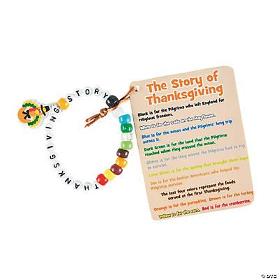 thanksgiving story beaded bracelet craft kit