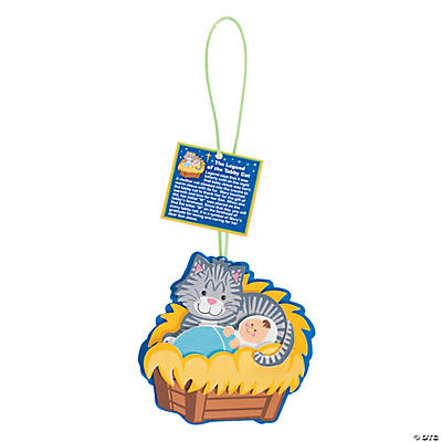 The legend of the tabby cat christmas ornament craft kit for Cat christmas ornaments craft