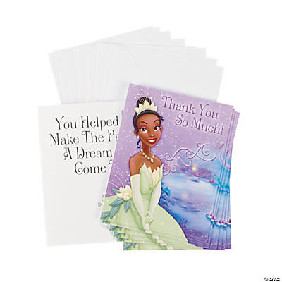 The Princess & the Frog Thank You Notes