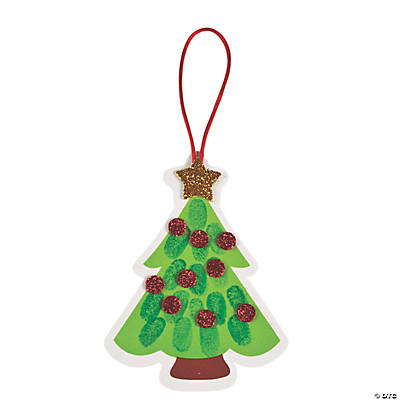 Thumbprint Christmas Tree Ornament Craft Kit