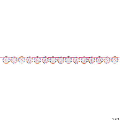 Tiny Toes Pink Ribbon Circle Banner